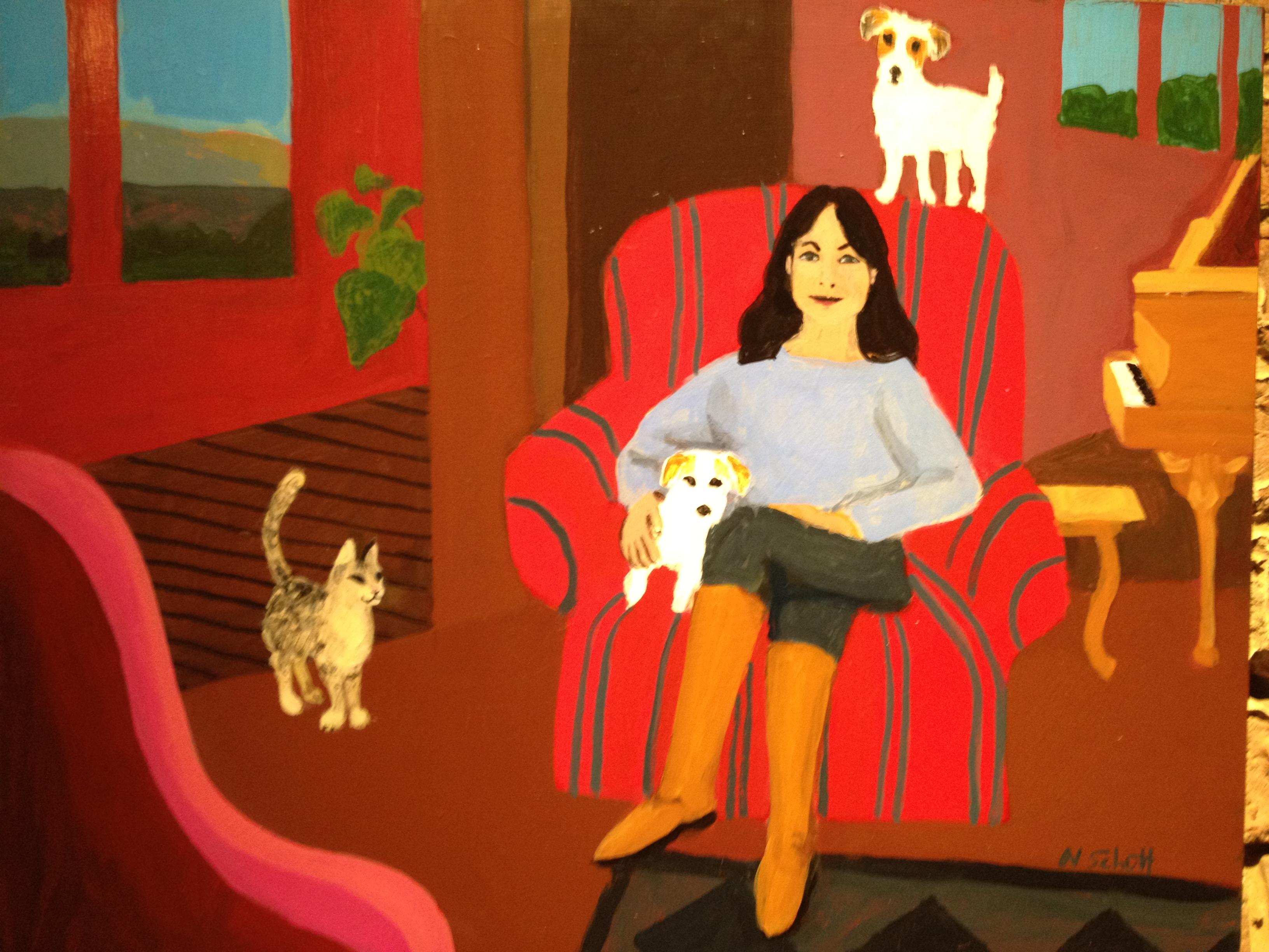 Painting by Nancy Schutt